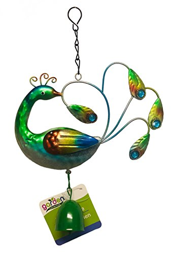 Collection Green Garden (Garden Collection Peacock Hanging Metal Wind-Chime Bell (Green))