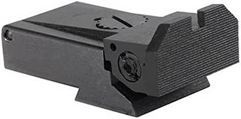 Ultimate Arms Gear Adjustable Rear Sight for Ruger MKII and MKIII, Beveled Blade Full Serrated
