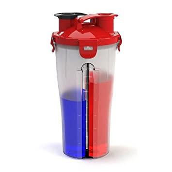 Dual Threat Shaker Bottle Protein Mixer Water Cup with Double Storage Compartment (30 Ounce)  sc 1 st  Amazon.ca & Dual Threat Shaker Bottle Protein Mixer Water Cup with Double ...