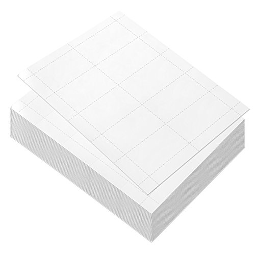 100 Sheets-Blank Business Card Paper - 1000 Business Card Stock for Inkjet and Laser Printers, 170gsm, White, 3.5 x 1.9 Inches (Stock Laser)