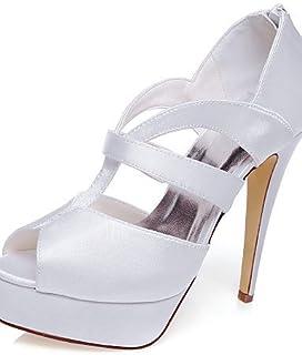 GGX/ Chaussures de mariage-Blanc-Mariage / Habillé / Soirée & Evénement-Talons-Sandales-Homme 5in & over-white MNJMK
