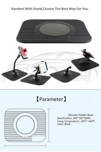 Alfombrilla para navegador GPS TomTom Garmin para coche, hecha de goma para el salpicadero,