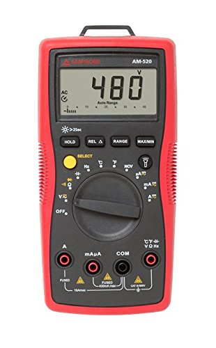 Amprobe AM-520 HVAC Multimeter with Non-Contact Voltage Detection and Temperature ()