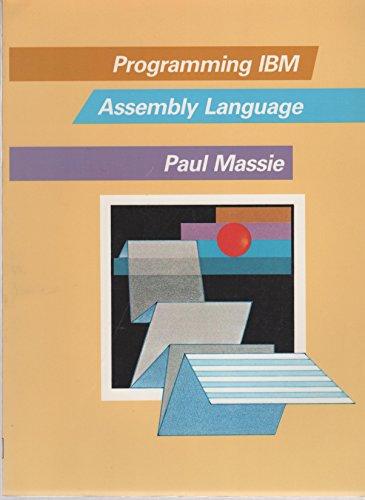 Programming IBM Assembly Language by Macmillan USA