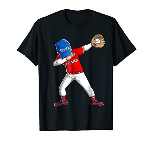 Dabbing Baseball T Shirt Boys Men Kids Catcher Pitcher Gifts ()