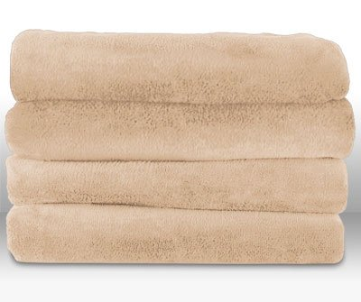 Sunbeam Microplush Heated Throw, Sand, TSM8US-R783-32A00 - Deluxe Personal Warmer