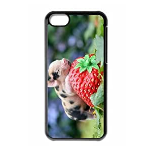 LZHCASE Diy Hard Shell Case Pig For Iphone 5C [Pattern-1]