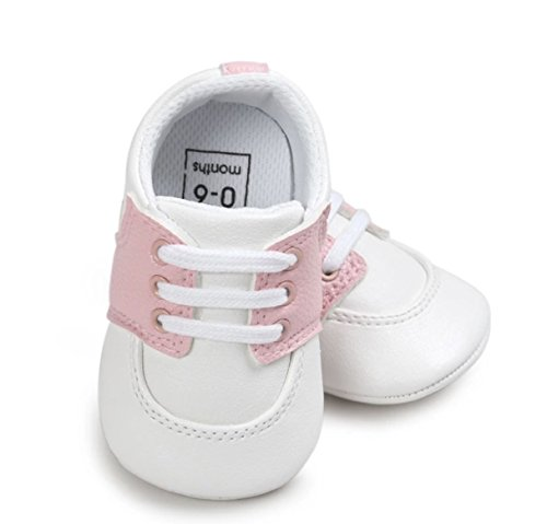 Pictures of Sassy Smock Infant PU Leather Oxford Shoes SSIS02 Pink 1