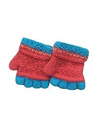 Lavany Kids Winter Gloves For Boy Girl Patchwork Mitten Fingerless For 1-7 year