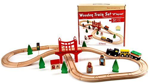 Classic Wooden Figure Eight Train Set