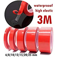 FairOnly Red Film Transparent High Temperature Resistant Double Sided Tape 12mm