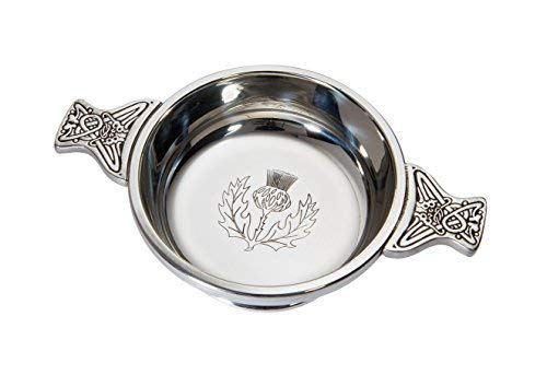 Wentworth Pewter - Medium Thistle Pewter Quaich Whisky, used for sale  Delivered anywhere in Canada