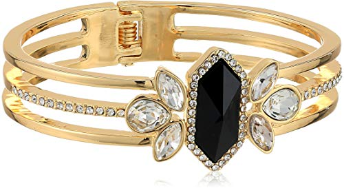 - GUESS Women's Hinged Cuff Bracelet, Gold, One Size