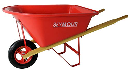 Seymour WB-JRB Children's Hight Density Poly Tray Wheelbarrow with Steel Wheel and Solid Rubber...
