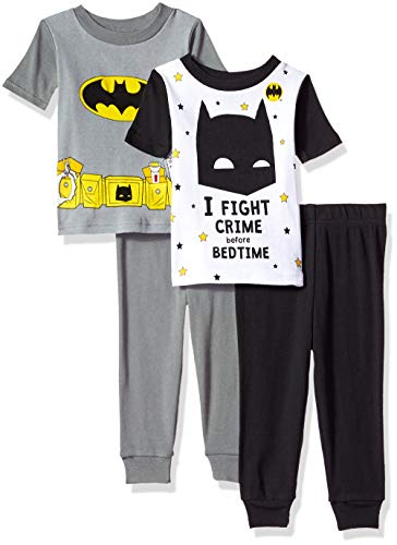 aec732ceb2c2 DC Comics Boys  Batman 4-Piece Cotton Pajama Set
