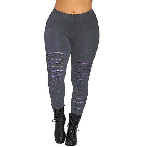 JESFFER Plus Size Printed Womens Leggings Trousers Yoga Sport Casual Pants
