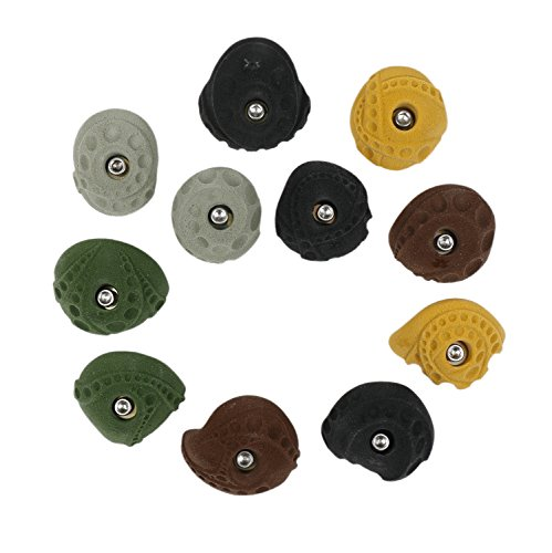 11 Mini Jugs l Climbing Holds l Mixed Earth Tones by Atomik Climbing Holds