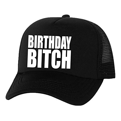 Birthday Bitch Truckers Mesh snapback hat in Black - One ()
