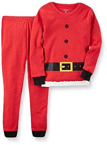Carter's Baby Boys' 2 Piece Cotton Sleepwear, Santa Clothing, 18 Months (Christmas Boy Pajamas)