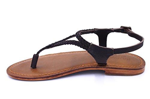 Inuovo - Sandalias de vestir de Piel para mujer marrón