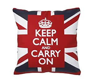 Union Jack Decorative Throw Pillows 18 Inch Square Pillow Covers with Cushions Cotton Canvas