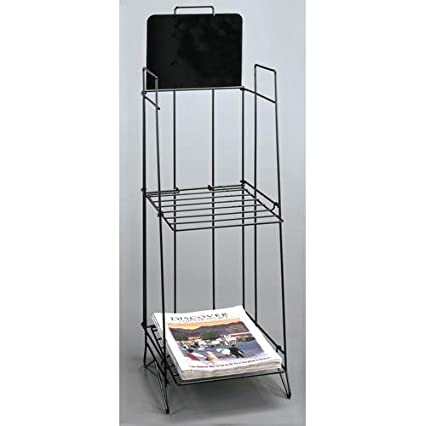 Newspaper rack 1 Mini Amazoncom Tabloid Newspaper Periodical Display Rack New Literature Organizers Office Products Amazoncom Amazoncom Tabloid Newspaper Periodical Display Rack New