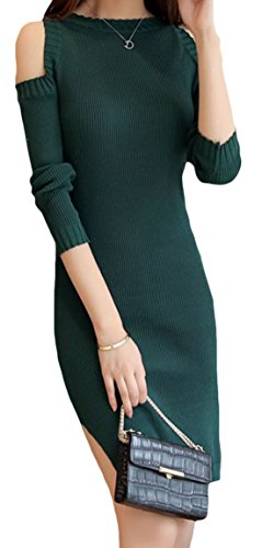 erdbeerloft - Vestido - Opaco - para mujer verde oscuro