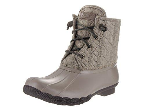 Sperry Top-Sider botas de lluvia de neopreno de cuerda de agua salada Emboss para las mujeres Marrón topo