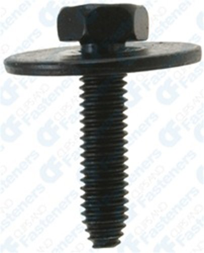25 6-1.0 X 25mm Metric Hex Head Sems Bolts - Type CA by Clipsandfasteners Inc