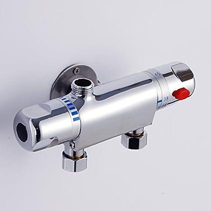 Mangeoo Calentador de Agua Solar Válvula mezcladora termostática Válvula de control de termostato con el grifo