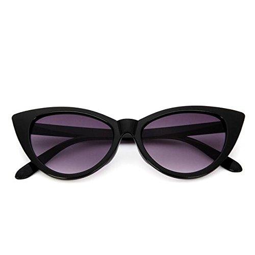 Mujer Nuevas Negro gris De Gafas De Gafas Sollas De Sol Gafas Ojo F De Mujeres Gafas Gato Pequeño Limotai Sol De Negro qTRtxwayX