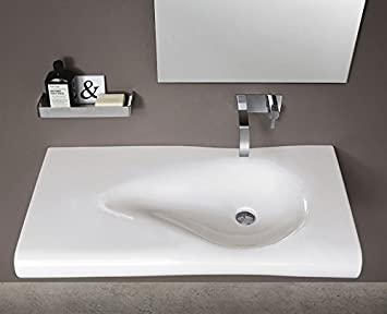Nic design lavabo bagno pillow lavabo sospeso amazon