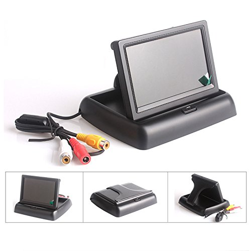 Foldable 4.3 TFT LCD Color Car Monitor Wireless 7 IR LEDs Waterproof Night Vision Vehicle Parking Reversing Backup Rear View Camera System