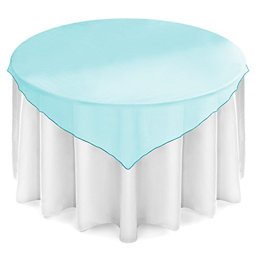 (Lann's Linens - 5 Organza Overlay Table Toppers - 72