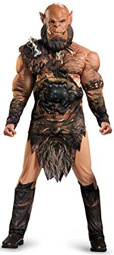 Disguise Men's Warcraft Orgrim Deluxe Muscle Costume, Multi, Medium