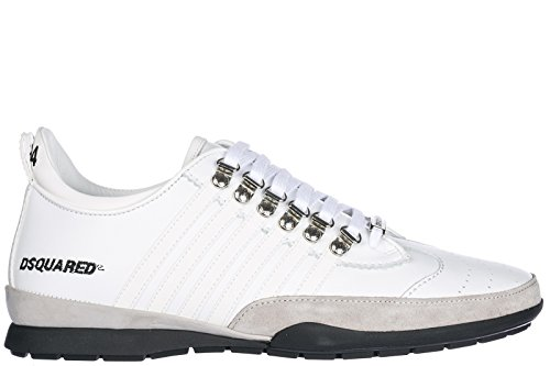 8a3faa6477d Dsquared2 Men s Shoes Leather Trainers Sneakers 251 White B07CH39GCK  B07CH39GCK B07CH39GCK Shoes 904e71