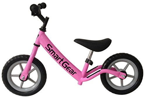 Smart Gear My First Smart Balance Bike Ultra-Lightweight Frame Kids Bike - Bubblegum Pink 12