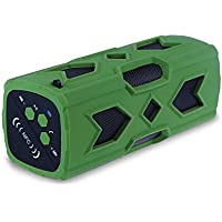 Wireless Speaker Portable Bluetooth Speakers 4.0 NFC Shockproof Dustproof 3D Sound,Phone Power Bank Charger 12 Hour Play 3600mAh Battery,Mic,AUX,Hands-Free Call-Green