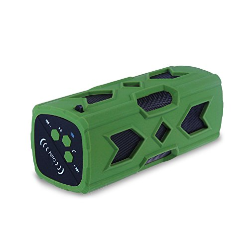 Shockproof Portable Bluetooth Speaker With Power Bank made our list of how to charge your phone without electricity while camping