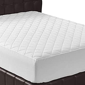 Utopia Bedding Quilted Fitted Mattress Pad (Twin) - Mattress Cover Stretches up to 16 Inches Deep - Mattress Topper