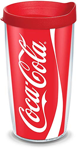Tervis 1103468 Coca-Cola - Coke Can Tumbler with Wrap and Red Lid 16oz, -