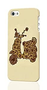Floral Vespa Pattern Image - Protective 3d Rough - Hard Plastic 3D Case - For Iphone 5/5S Phone Case Cover