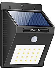 iposible Solar Lights, 38 LED Motion Sensor Security Lights Wireless 3 Intelligent Modes Waterproof Outside Solar Powered Lights Outdoor Lights for Garden,Fence,Patio,Yard,Walkway,Stairs,Wall