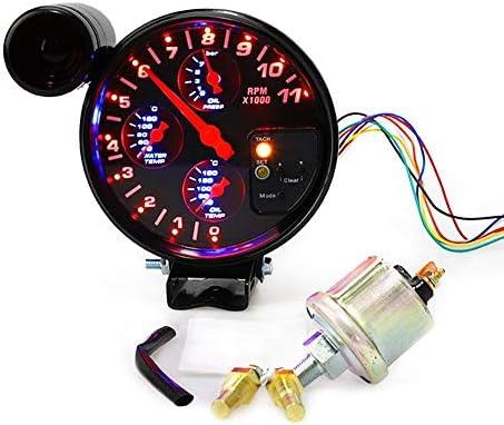 "L.P.L 5"" 4 1カータコメータタコメータメーターレーシングカーゲージ水温計油温計油圧計"