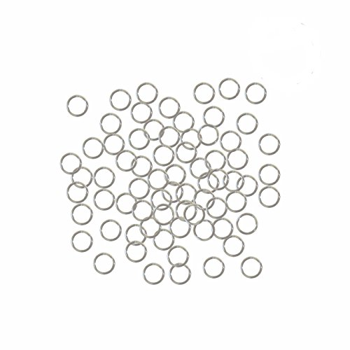 Rockin Beads Silver Plated Brass 5mm Round 20 Gauge Jump Rings 24 Grams 420 Pcs (Ring 5mm Open)