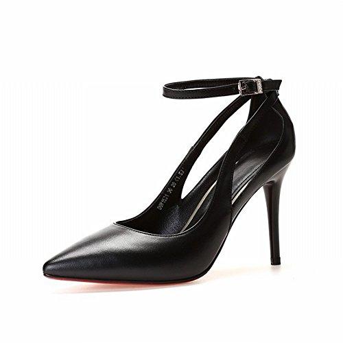 SED Zapatos de Gama Alta con Tacón Alto Y Tobillos con Zapatos de Boca Baja, Zapatos con Punta, Zapatos Femeninos C y altura 7cm