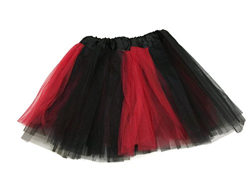 Bug Costumes Child Size (Rush Dance Colorful Kids Girls Ballerina Dress-Up Princess Costume Recital Tutu (One Size, Red & Black (Ladybug)))