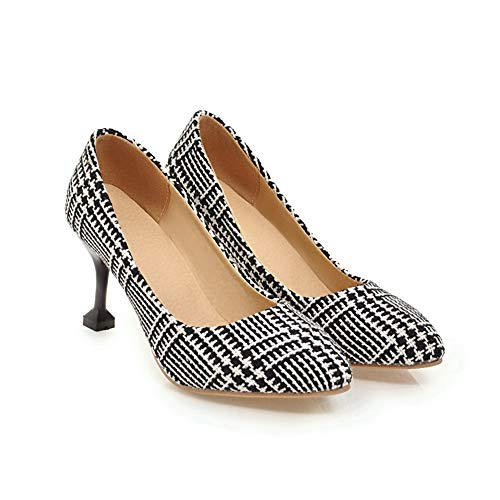 Shoes US Pumps Colors 5 APL10595 Travel Assorted 10 Black M Womens Fabric Urethane BalaMasa B qw8pHp