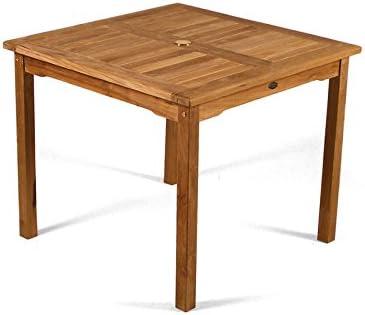 BrackenStyle Table de jardin en teck Grade A - Carré d ...