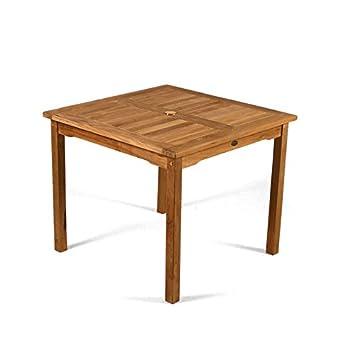 BrackenStyle Table de jardin en teck Grade A - Carré d\'Extérieur en ...
